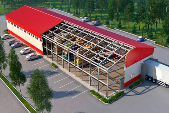Проекты павильонов и магазинов из металлоконструкций